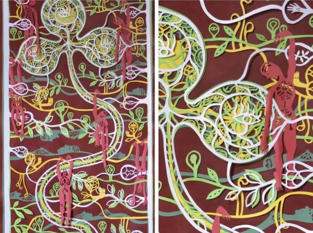 90后广州妹子的顶级剪纸:把A4纸做成立体艺术品