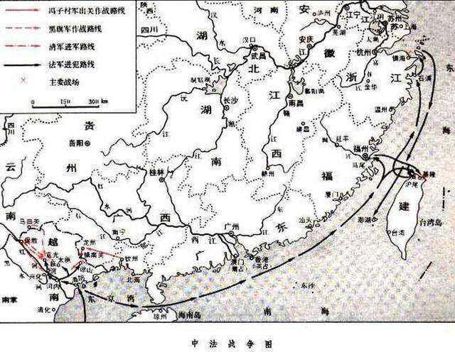 中法战争是怎么发生,中国和法国历史上的对决