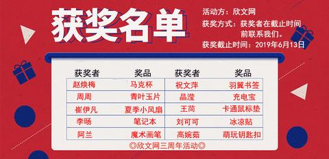 欣文网三周年完美落幕!